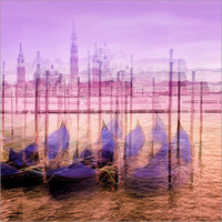 San Giorgio Maggiore in the lagoon of Venice Pictures: Posters by  VIAINA at Posterlounge.co.uk