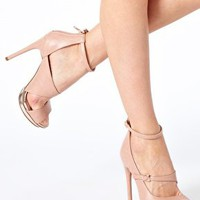 ASOS PLATONIC Peep Toe Heeled Shoes at asos.com