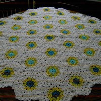 HEXIGAN Crochet Blanket and Shawl  Cuddle blanket (nannycheryl original) ID 635