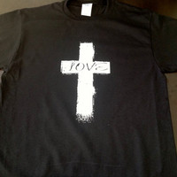 Printed T-Shirt- CROSS LOVE