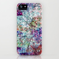Technicolour Cherry Blossom iPhone Case by Amy Sia