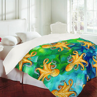 DENY Designs Home Accessories | Madart Inc. Sea of Whimsy Octopus Pattern Duvet Cover