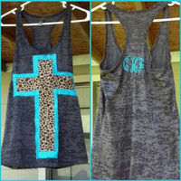 Double cross tank with initials