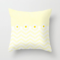 *** Daisy &amp; Dots *** Throw Pillow by Mnika  Strigel