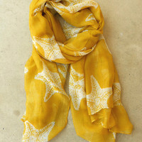 Sweet Starfish Scarf [3808] - $14.00 : Vintage Inspired Clothing & Affordable Fall Frocks, deloom | Modern. Vintage. Crafted.