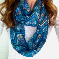 Turquoise Diamond Infinity Scarf