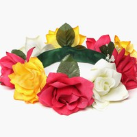 Purple Label - Ivy Handmade Floral Crown (Pink/Yellow)