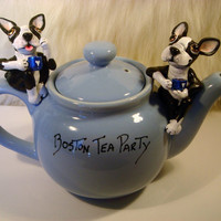 Boston Terrier Tea Party by SamsFurKids on Etsy