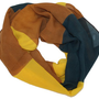 LibbySue-Wide Striped, Multi-Color Eternity Circle Scarf