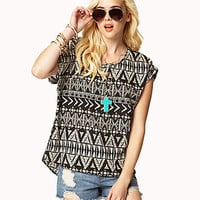 Tribal-Inspired Woven Top