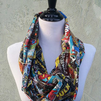 Marvel Comic Fabric Infinity Scarf - Spiderman, Thor, Wolverine, Captain America, Iron Man, Hulk
