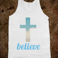 Believe - Whitney's Wardrobe - Skreened T-shirts, Organic Shirts, Hoodies, Kids Tees, Baby One-Pieces and Tote Bags