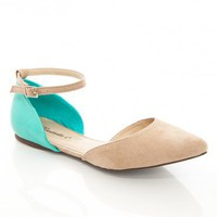 Dolley Flats in Taupe Mint - ShopSosie.com