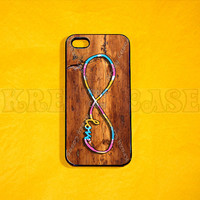 iPhone 4 Case, Infinity on Vintage wood Print(not a real wood) Case iPhone 4 Case, Iphone 4s Cover