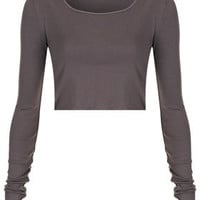 Long Sleeve Crop Tee - New In This Week  - New In
