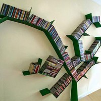 Malus Communis: Turn your DVD Rack into a Tree | Apartment Therapy Unplggd