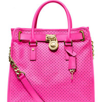 MICHAEL Michael Kors  Large Hamilton Perforated Saffiano Tote