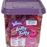 Wonka Laffy Taffy Jar, Strawberry, 145-Count