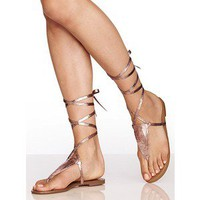 Victoria's Secret Ankle-Wrap Thong Sandal