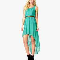 High-Low Dress w/ Skinny Belt | FOREVER21 - 2038822575