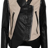 W118 by Walter Baker Miles cotton and faux leather jacket  54% at THE OUTNET.COM