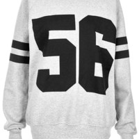 Number 56 Sweater - Jersey Tops - Clothing - Topshop USA