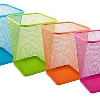 Vibrant Mesh Trash Can Square Cool Stuff College Essentials Dorm Garbage Can Vibrant Fun