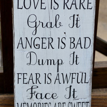 Inspirational Quote Home Decor Hand from Signs Of Love