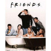 Friends (Group, Bathtubs) TV Poster Print Mini Poster Mini Poster Print, 16x20