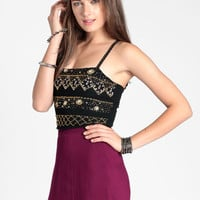 Treasure Trove Crop Top - $44.00 : ThreadSence, Women's Indie & Bohemian Clothing, Dresses, & Accessories
