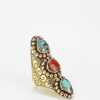 Natalie B Jewelry Turquoise Saddle Ring