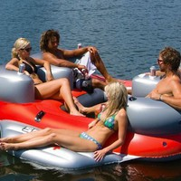 Sea-Doo 4 Person Inflatable Aqua Lounge with MP3 System:Amazon:Sports & Outdoors