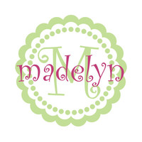 Name And Initial Vinyl Wall Decal - Personalized Round Flower Polka Dot Border Decal For Girl Baby Nursery Or Girls Room 22H x 22W GN053