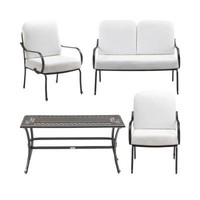 Hampton Bay Fall River 4-Piece Patio Seating Set with Bare Cushions-DY11034-4-B at The Home Depot