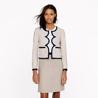 Scalloped linen jacket - suiting - Women's new arrivals - J.Crew