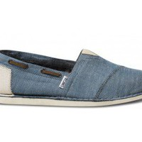 Chambray Bimini Men&#x27;s Stitchouts | TOMS.com