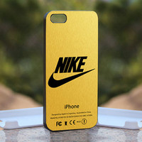 Nike logo gold texture - Design available for iPhone 4 / 4S and iPhone 5 Case - black, white and clear cases