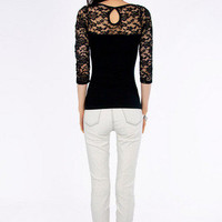 On A Whimsy Lace Top $30