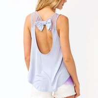 cut-out-bow-top IVORY LILAC - GoJane.com