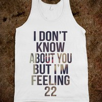 22 - Taylor Swift Tank - Rad Tees - Skreened T-shirts, Organic Shirts, Hoodies, Kids Tees, Baby One-Pieces and Tote Bags