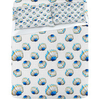 DENY Designs Home Accessories | Madart Inc. Sea of Whimsy Sea Scallop Pattern Sheet Set