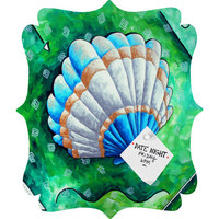 DENY Designs Home Accessories | Madart Inc. Sea of Whimsy Sea Scallop 1 Quatrefoil Magnet Board