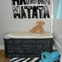 Wall Vinyl Sticker Decals Art Mural Hakuna Matata Words AL438:Amazon:Home &amp; Kitchen