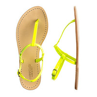 Girls&#x27; patent T-strap sandals - flip-flops &amp; sandals - Girl&#x27;s shoes - J.Crew
