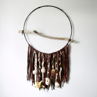 Large Dreamcatcher // Beach Babe Bohemian. One of a Kind Art.