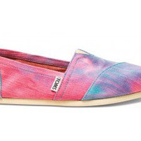 Pink and Blue Tie Dye Women&#x27;s Classics | TOMS.com