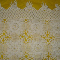 Ready to ship/Gorgeous HANDMADE CROCHET Long Tablecloth or Bedspread/ Lace