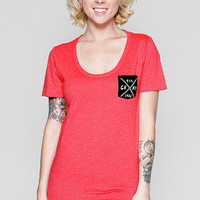 Girls Traditional Pocket Scoop Tee - Glamour Kills Clothing