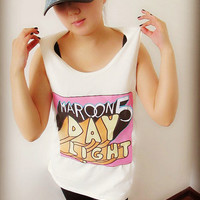 Maroon 5 Day Light Shirt Crop Top Tank Tops T-Shirt , Women Sexy Hipster Shirt , Custom Photo T-Shirt