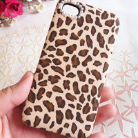 Handmade Leopard Print Case for iPhone4/4S